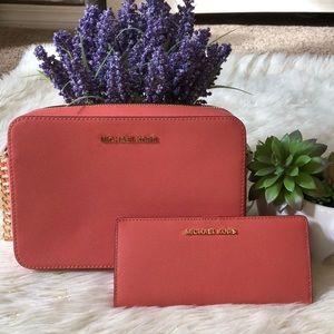 Michael Kors  Crossbody Bag AND Slim Bifold wallet